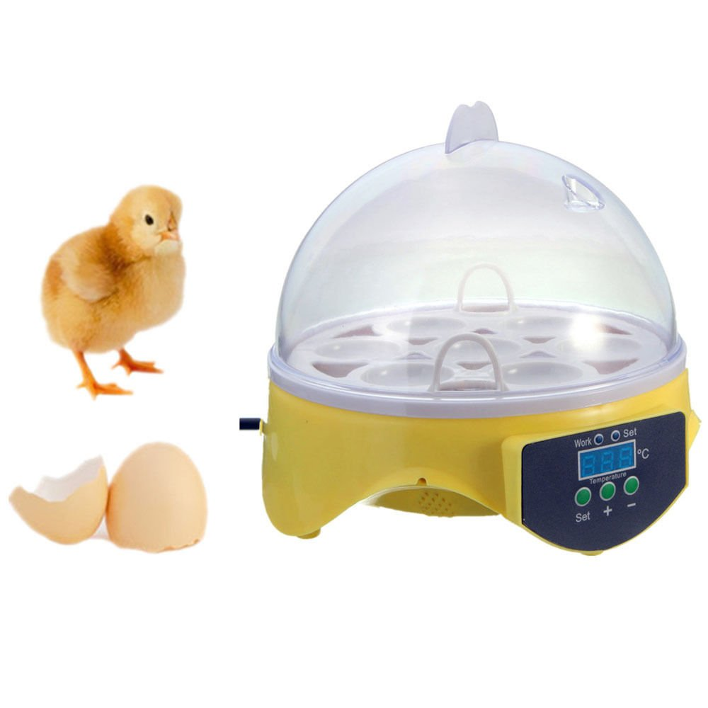 Tardo Automatic Clear Digital Mini Hatching Chicken Incubator-Duck Egg Incubator- Automatic Egg Hatcher 7 Eggs-US Fast Shipping