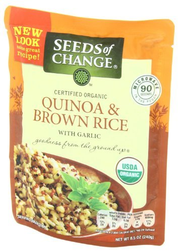 Seeds of Change Microwavable Quinoa and Brown Rice with Garlic, 8.5-ounce (Pack of 8))