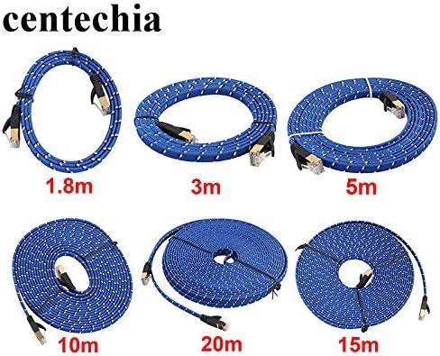 Cable Length: 3m, Color: Blue Computer Cables Yoton Durable 3M CAT7 Ethernet Internet Network Patch LAN Flat Cable Cord for Computer Laptop