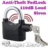 Gadget Hero's Details about Anti Theft Burglar Pad Lock Alarm Security Siren Home Office Bike Bicycle Shop