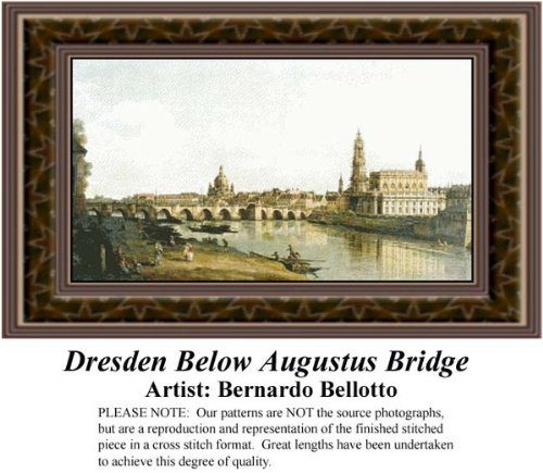 - Dresden Below Augustus Bridge, Fine Art Counted Cross Stitch Pattern (Pattern Only, You Provide the Floss and Fabric)