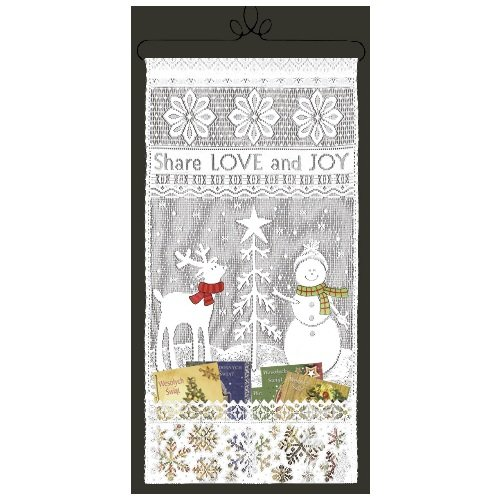 Heritage Lace Share Love 12-Inch by 23-Inch White Card Holder Wall Hanging