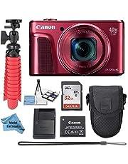 $249 » Canon Powershot SX720 (Red) Point & Shoot Digital Camera + Accessory Bundle + Model Electronics Cloth