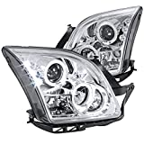 ford fusion headlight assembly - Spec-D Tuning LHP-FUS06-TM Ford Fusion Halo Chrome Clear Clear Projector Head Lights