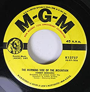 Tommy Edwards 45 RPM The Morning Side of the Mountain / Please Mr. Sun