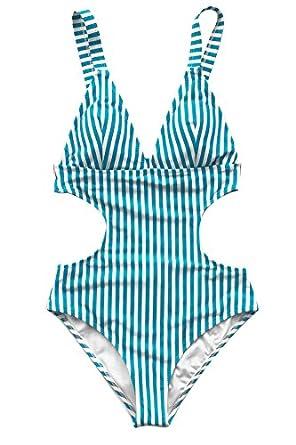 78edaed520f Cupshe Fashion Beyond Praise Stripe One-Piece Swimsuit Beach  SwimwearBathing Suit - Multi - XX-Large  Amazon.co.uk  Clothing