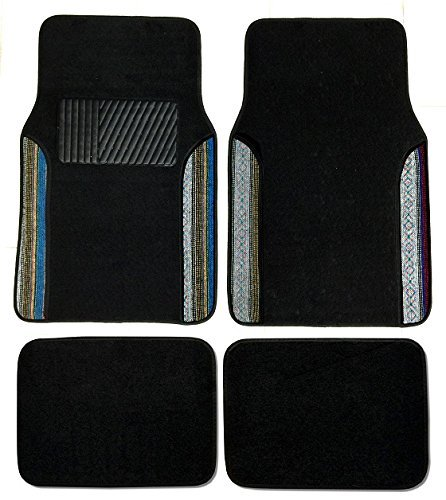 Premium Carpet 4PC Front & Rear Driver Passenger Floor Mats Cars Trucks Sedans SUVs (Baja Inca)