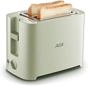 KLYHCHN Toaster Removable Crumb Tray, Compact Stainless Steel Automatic 220V Bread Toaster 6 Gear Electric Cooker Baking Breakfast Machine Bread Maker Kitchen Appliance 680W (Green)