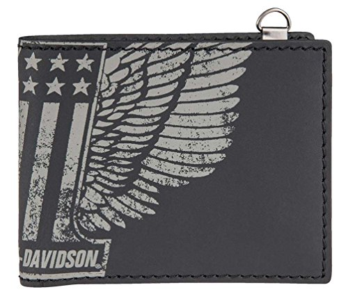 Harley Davidson Bi Fold Genuine Leather HDMWA11055 BLK