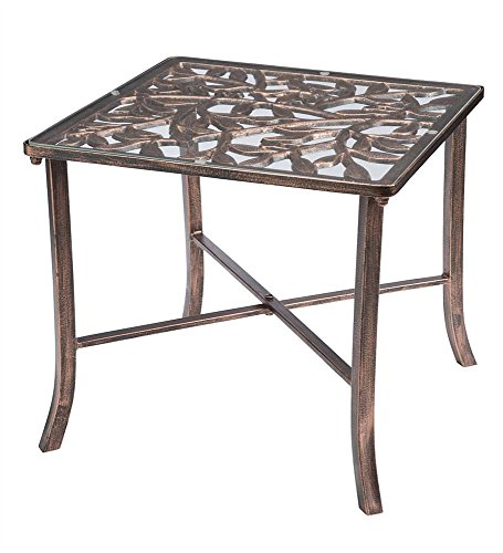 Wind and Weather Iron Tuscany Side Table (Wrought Iron Outdoor Benches)