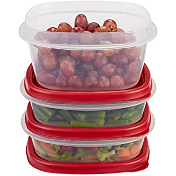 rubbermaid easy find lid food storage container bpafree plastic 6piece set