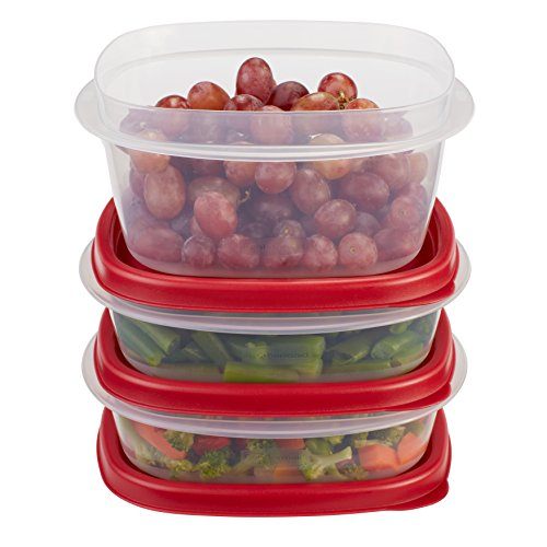 Rubbermaid Easy Find Lid Food Storage Container, BPA-Free Plastic, 6-Piece Set (Freezer Safe Storage Containers compare prices)