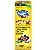 Hyland's 4 Kids Complete Cold and Flu Liquid Formula 4 oz (2 Pack)