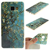 Galaxy A5 (2016) Case,(Not Fit Galaxy A5 (2015),A510F Case,M.Jvisun [Top Selling][Soft TPU IMD][Shock Absorbent][Shockproof][Floral Luxury] [Lifeproof] Cover Skin For Samsung Galaxy A5 (2016) A510F