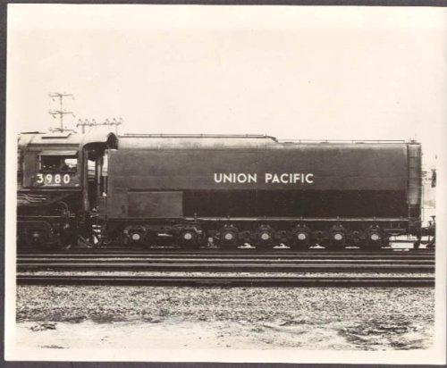 Union Pacific RR 7-axle tender loco #3980 photo 1940s (Tender Union Pacific)