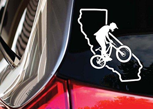 Downhill Mountain Bike Race (Downhiller Scrub California Outline Car Decal_ 7