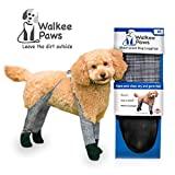 Walkee Paws Waterproof Dog Leggings - Keep Your Dog's' Clean & Dry Without The Hassle of Boots - Classic Checkered Color (Medium)