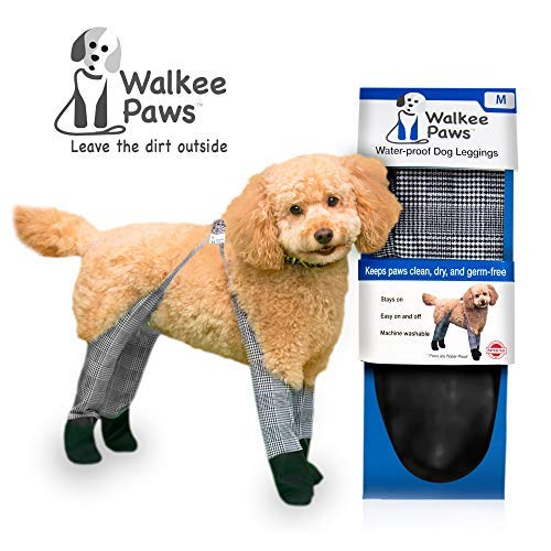 Walkee Paws Waterproof Dog Leggings - Keep Your Dog's' Clean & Dry Without The Hassle of Boots - Classic Checkered Color (Medium) by Walkee Paws