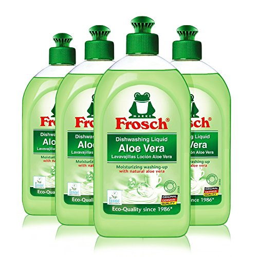 Liquid Dishwashing Cleaner Natural - Frosch Natural Aloe Vera Liquid Hand Dish Washing Soap, 500 ml (4)