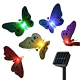 Solar String Fairy Lights Garden ,12LED 2M Butterfly String Lights Fiber Optic Decorative Outdoor for Home,Garden, Patio, Lawn, Party , Christmas Tree Decoration. Multicolor