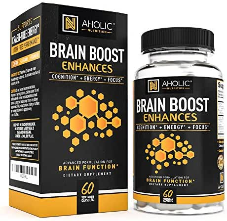 Energy Pills - Natural Calm Focus Supplement   Nootropic Stack Alpha Brain Boost Amino Energy Supplement   Natural PreWorkout for Women & Men - Caffeine Pills with L-Theanine Vitamin B6 & Magnesium