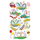 EK Success Metallic Dimensional Stickers - Roller Coaster