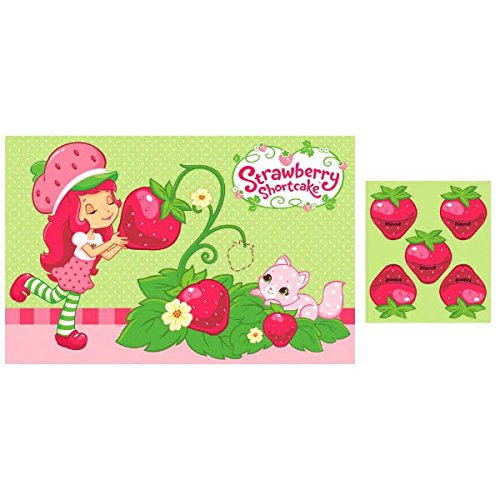 amscan Delightful Strawberry Shortcake Party Game Birthday Party Activity (1 Piece), 24 1/5