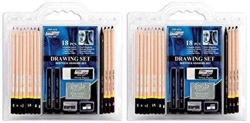 Pro Art lLnIJN 18-Piece Sketch/Draw Pencil Set, 2Pack of Pencil Set by Pro Art