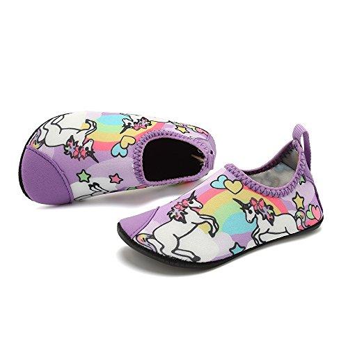 HooyFeel Cute Kids Toddler Sneakers Lightweight Slip on Swim Water Shoes Aqua Barefoot Socks for Baba Boys and Girls by HooyFeel (Image #6)