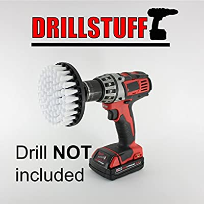 quick change shaft-Power Scrubbing Brush Drill Attachment for Cleaning Showers, Tubs, Bathrooms, Tile, Grout, Carpet, Tires, Boats by Drillstuff