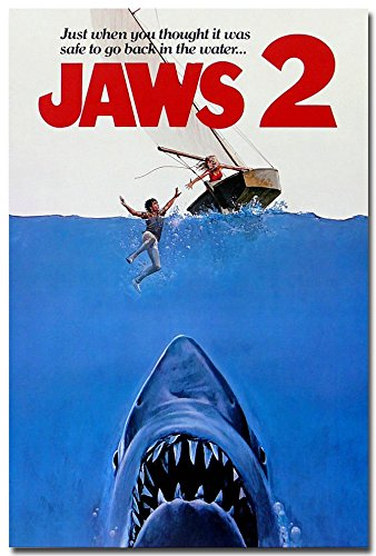 Tomorrow sunny Jaws 2 Classic Movie Silk Fabric Poster Print