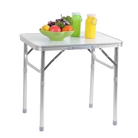 Amazoncom Belovedkai Folding Table Aluminum PicnicCamping - Adjustable outdoor dining table