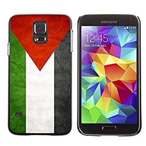 Cute Painting Slim pc Cover - Samsung Galaxy S5 ( Palestine Grunge Flag )