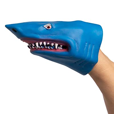 Barry Owen Co. Hand Puppet Shark Blue- One per Package: Toys & Games