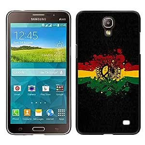 Design for Girls Plastic Cover Case FOR Samsung Galaxy Mega 2 Rasta Reggae Peace Sign OBBA