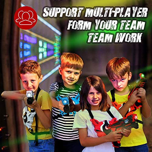 Laser Tag Guns Set with Vests, Infrared Guns Set of 4 Players by LUKAT (Image #3)
