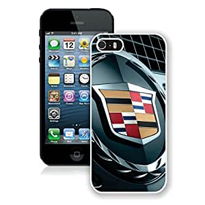 Fashionable And Unique Designed Case With Cadillac logo 1 White For iPhone 5 5S Phone Case