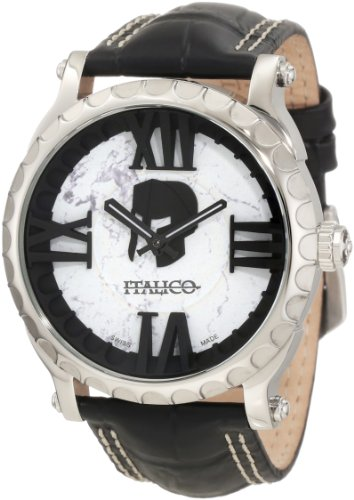 Italico Men's ITCS03-F Colosseum White Marbleized Dial Leather (Italico Leather)