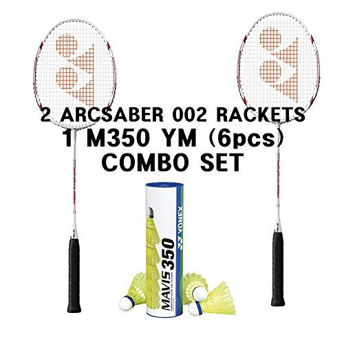 Yonex 2 Arcsaber 002 1 tube Mavis 350 YM Combo Set