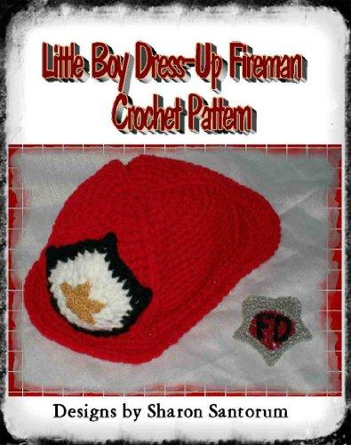Little Boy Dress-Up Fireman Crochet -
