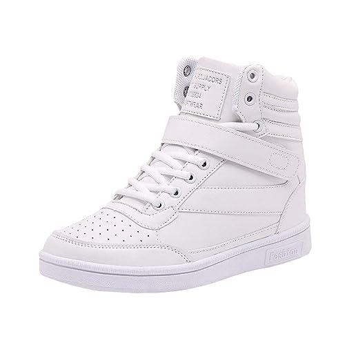 Zapatos para Mujer Velcro Zapatos de Cuña Color Sólido Zapatillas de Correr Zapatillas de Deporte Antideslizante Transpirable EU 35-40: Amazon.es: Zapatos y ...