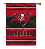 NFL Tampa Bay Buccaneers 2-Sided House Banner, 28 x 40-Inch, Team Color