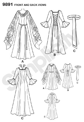 Amazon Simplicity Sewing Pattern 9891 Misses Costumes Hh 6 8