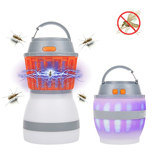 Dust2Oasis Bug Zapper Lantern Mosquito Lamp for Outdoor Camping&Home-Portable Compact IP67 Waterproof Mosquito Repellent Light Rechargeable 2200mAh for Traveling&Emergencies