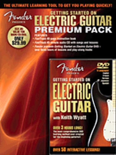 Hal Leonard Fender Presents Getting Started On Electric Guitar Premium Pack Book/CD/DVD by Hal Leonard