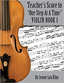Amazon com: One Step At A Time: The Teacher's Score, Violin