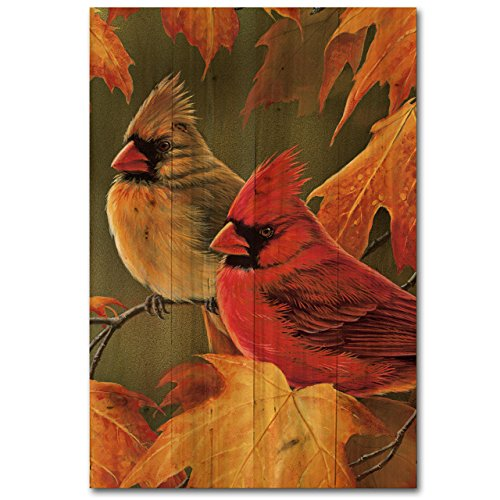 UPC 812882021345, WGI-GALLERY 1624 Maple Leaves and Cardinals Wooden Wall Art