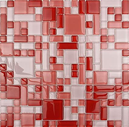 LADA Red Strawberry (GP06) Glass Backsplash Tiles for ...