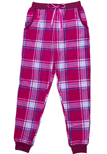 - North 15 Women's Super Cozy Minky Fleece Pajama Bottom with Waist & Bottom Rib-L1525-Des3-Lg