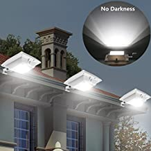 【Super Bright】 USYAO Solar Super Bright PIR Motion Sensor Waterproof Wireless Security Light Lamp For Outdoor Garden Wall Yard Deck Auto On / Off Dusk to Dawn Pack of 1
